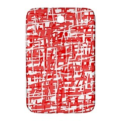 Red Decorative Pattern Samsung Galaxy Note 8 0 N5100 Hardshell Case  by Valentinaart