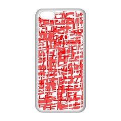 Red Decorative Pattern Apple Iphone 5c Seamless Case (white) by Valentinaart