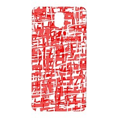 Red Decorative Pattern Samsung Galaxy Note 3 N9005 Hardshell Back Case by Valentinaart