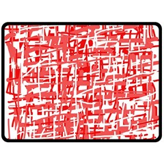 Red Decorative Pattern Double Sided Fleece Blanket (large)  by Valentinaart