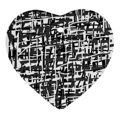 Gray Pattern Ornament (heart)  by Valentinaart