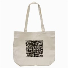 Gray Pattern Tote Bag (cream) by Valentinaart