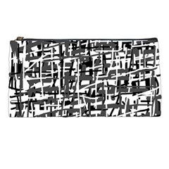 Gray Pattern Pencil Cases by Valentinaart