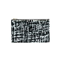 Gray Pattern Cosmetic Bag (small)  by Valentinaart