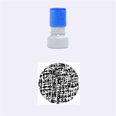 Gray Pattern Rubber Round Stamps (small) by Valentinaart