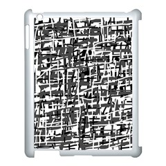 Gray Pattern Apple Ipad 3/4 Case (white) by Valentinaart