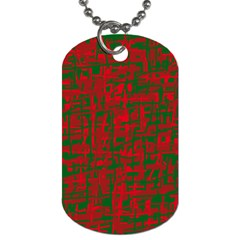 Green And Red Pattern Dog Tag (two Sides) by Valentinaart