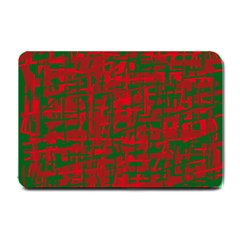Green And Red Pattern Small Doormat  by Valentinaart