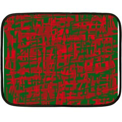 Green And Red Pattern Double Sided Fleece Blanket (mini)  by Valentinaart