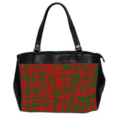 Green And Red Pattern Office Handbags (2 Sides)  by Valentinaart