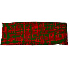 Green And Red Pattern Body Pillow Case (dakimakura) by Valentinaart