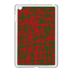Green And Red Pattern Apple Ipad Mini Case (white) by Valentinaart
