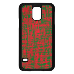 Green And Red Pattern Samsung Galaxy S5 Case (black) by Valentinaart
