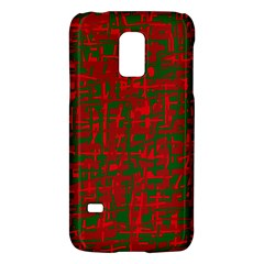 Green And Red Pattern Galaxy S5 Mini by Valentinaart