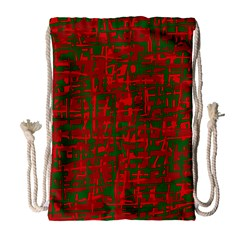 Green And Red Pattern Drawstring Bag (large) by Valentinaart
