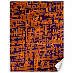 Blue And Orange Decorative Pattern Canvas 36  X 48