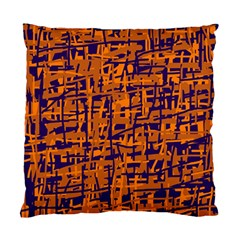 Blue And Orange Decorative Pattern Standard Cushion Case (one Side) by Valentinaart