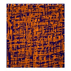 Blue And Orange Decorative Pattern Shower Curtain 66  X 72  (large)  by Valentinaart