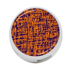 Blue And Orange Decorative Pattern 4 Port Usb Hub (one Side) by Valentinaart