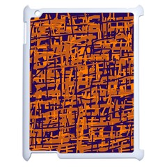 Blue And Orange Decorative Pattern Apple Ipad 2 Case (white) by Valentinaart