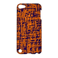 Blue And Orange Decorative Pattern Apple Ipod Touch 5 Hardshell Case by Valentinaart