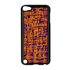 Blue And Orange Decorative Pattern Apple Ipod Touch 5 Case (black)