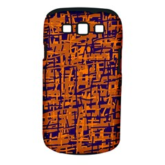 Blue And Orange Decorative Pattern Samsung Galaxy S Iii Classic Hardshell Case (pc+silicone) by Valentinaart