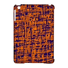 Blue And Orange Decorative Pattern Apple Ipad Mini Hardshell Case (compatible With Smart Cover) by Valentinaart