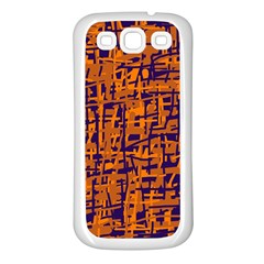 Blue And Orange Decorative Pattern Samsung Galaxy S3 Back Case (white) by Valentinaart