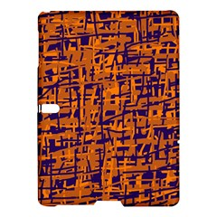 Blue And Orange Decorative Pattern Samsung Galaxy Tab S (10 5 ) Hardshell Case  by Valentinaart