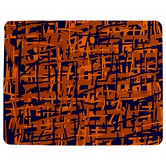 Blue And Orange Decorative Pattern Jigsaw Puzzle Photo Stand (rectangular) by Valentinaart