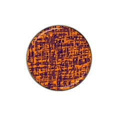 Orange And Blue Pattern Hat Clip Ball Marker (10 Pack) by Valentinaart