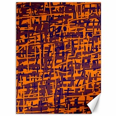 Orange And Blue Pattern Canvas 36  X 48   by Valentinaart