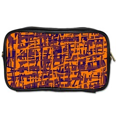 Orange And Blue Pattern Toiletries Bags