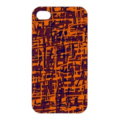 Orange And Blue Pattern Apple Iphone 4/4s Hardshell Case by Valentinaart