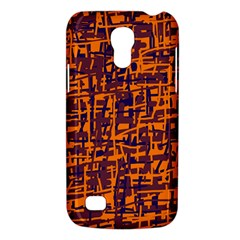 Orange And Blue Pattern Galaxy S4 Mini by Valentinaart