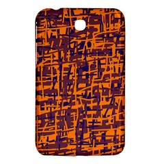 Orange And Blue Pattern Samsung Galaxy Tab 3 (7 ) P3200 Hardshell Case  by Valentinaart