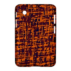 Orange And Blue Pattern Samsung Galaxy Tab 2 (7 ) P3100 Hardshell Case  by Valentinaart