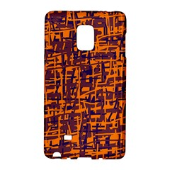 Orange And Blue Pattern Galaxy Note Edge by Valentinaart