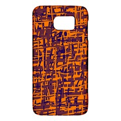 Orange And Blue Pattern Galaxy S6 by Valentinaart