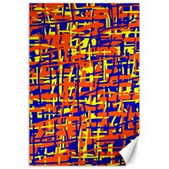 Orange, Blue And Yellow Pattern Canvas 20  X 30   by Valentinaart