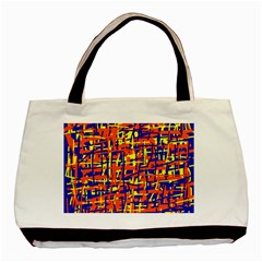 Orange, Blue And Yellow Pattern Basic Tote Bag (two Sides) by Valentinaart