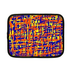Orange, Blue And Yellow Pattern Netbook Case (small)  by Valentinaart
