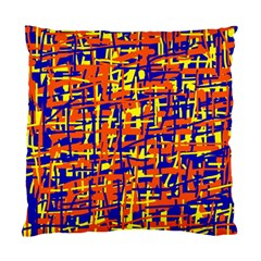 Orange, Blue And Yellow Pattern Standard Cushion Case (one Side) by Valentinaart
