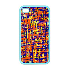 Orange, Blue And Yellow Pattern Apple Iphone 4 Case (color) by Valentinaart