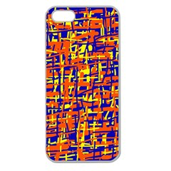 Orange, Blue And Yellow Pattern Apple Seamless Iphone 5 Case (clear) by Valentinaart