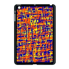 Orange, Blue And Yellow Pattern Apple Ipad Mini Case (black) by Valentinaart