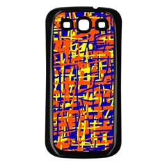 Orange, Blue And Yellow Pattern Samsung Galaxy S3 Back Case (black) by Valentinaart