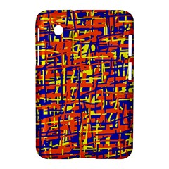 Orange, Blue And Yellow Pattern Samsung Galaxy Tab 2 (7 ) P3100 Hardshell Case