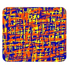 Orange, Blue And Yellow Pattern Double Sided Flano Blanket (small)  by Valentinaart